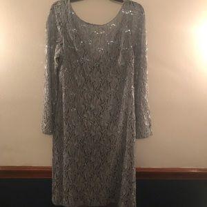 JS Collection Knee Length, Lace Dress, Size 12